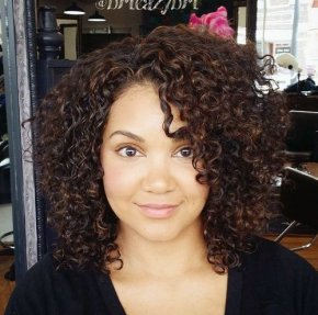 black curly hairstyle