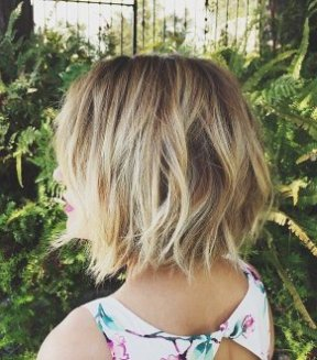 Choppy layered bob haircut for women
