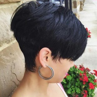 Extra short stacked bob