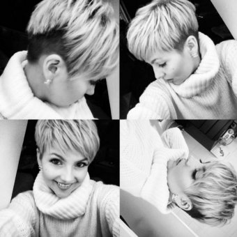 Layered Pixie Haircut Ideas for Thick Hair - Shaved Hairstyles 2016