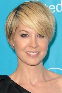 Layered Short Hairstyle with Side Swept Bangs 2014