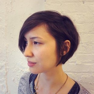 Short tousled bob hairstyle