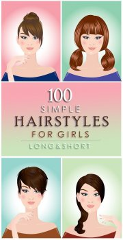 Simple Hairstyles for Girls with Long and Short Hair